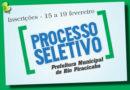 Prefeitura de Rio Piracicaba realiza processo seletivo para vagas de Auxiliar de Serviços Gerais